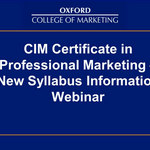 Webinar: Noutati in programul de studiu Certificatul Profesional in Marketing