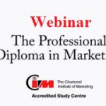 Webinar: Noutati in programul de pregatire pentru Diploma Profesionala in Marketing