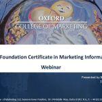 Webinar: Foundation Certificate in Marketing.      Nivel 3